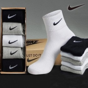 5双耐克NlKE纯棉男袜女袜运动袜礼盒装