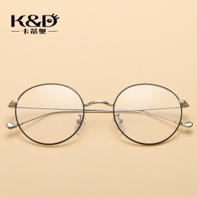 复古圆框金属眼镜