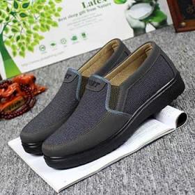 老北京布鞋男中老年休闲鞋父亲鞋透气防滑男鞋套脚爸爸