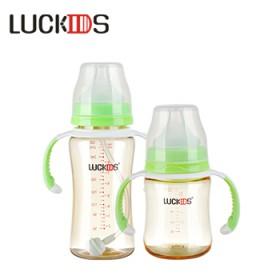 婴儿奶瓶PPSU奶瓶防呛奶防摔宽口径带手柄奶瓶