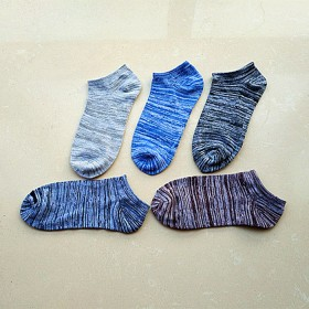 5双包邮男女四季民族风船袜日系运动棉袜短筒袜