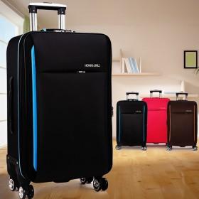复古旅行箱20商务拉杆箱22万向轮行李箱24寸男女