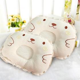 2017新款猪小淘新生儿棉芯彩棉定型枕婴儿防偏枕