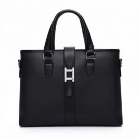 大容量商务包PVC男包出差男士手提包横款公文包包