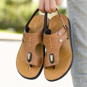 夹趾韩版沙滩鞋防滑两用休闲凉拖男