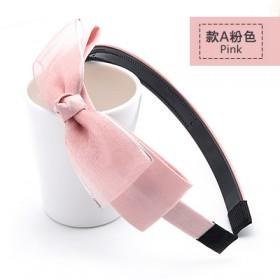 【2个装】韩国韩版布艺蝴蝶结带齿宽边发箍