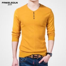 梵克雷敦 时尚针织长袖T恤