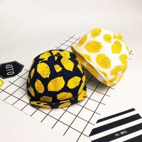 韩版柠檬鸭舌帽春夏款儿童帽子男女宝宝遮阳帽百搭可爱