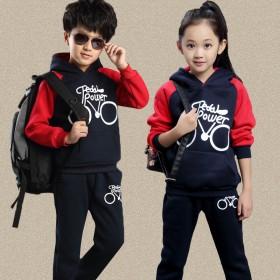 童装2017春秋儿童卫衣套装男童女童运动服套装韩版