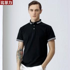 比菲力夏季薄款短T短袖POLO衫男士丝光棉T恤商务