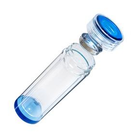 蓝水晶双层玻璃杯时尚简约茶水杯男女士水杯
