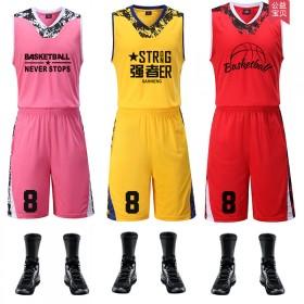 篮球服套装 新款促销