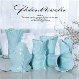 陶瓷水培植物小花瓶 陶瓷白色客厅酒柜吧台迷你干花创