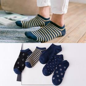 5双装 男士四季船袜纯棉隐形袜短袜 多款可选