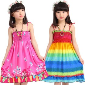 女童波西米亚韩版沙滩裙