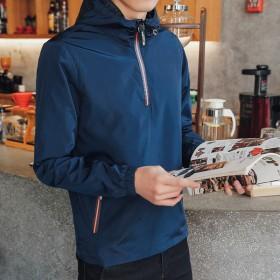 比菲力春季外套男韩版潮学生2017新款套头夹克男生