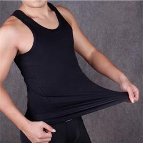 男士纯棉背心工字健身运动打底汗背心纯色修身内衣男装