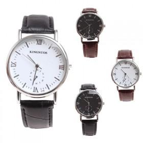 复古小秒盘装饰皮带石英表学生手表