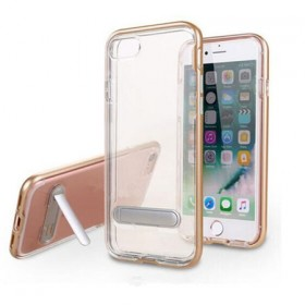 iPhone7防摔硅胶透明手机壳创意支架手机保护套