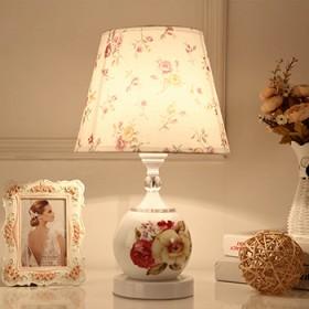 欧式现代简约台灯遥控台灯客厅卧室床头灯喂奶台灯