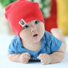 韩版男女婴儿童套头帽春秋冬婴幼儿堆堆帽