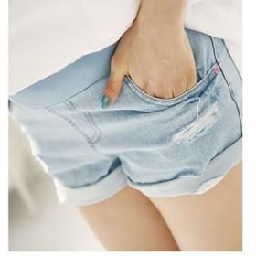 孕妇牛仔短裤夏孕妇装打底裤夏装大码韩版托腹裤短裤