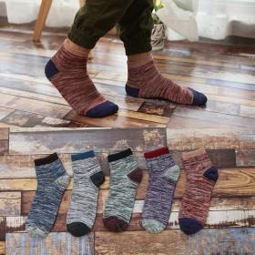 5双盒装 韩版男士纯棉中筒袜 多款可选