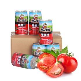 紫山农庄 番茄汁6罐箱装新疆特产浓缩水果饮料310