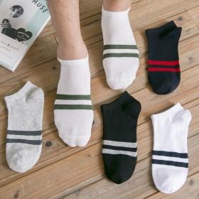 5双盒装 韩版男士纯棉低帮短袜船袜 多款可选