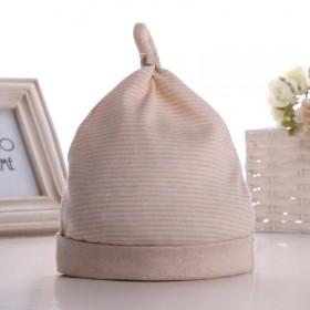 婴儿彩棉胎帽2个