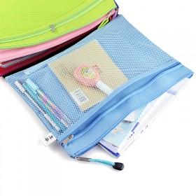 杰利 防水帆布双层A4文件袋 爆款好质量
