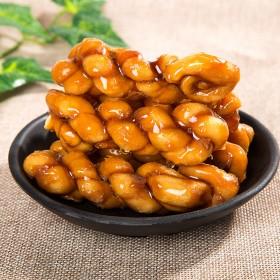 岛品百年台湾进口黑红焦糖麻花24根500g大包特产