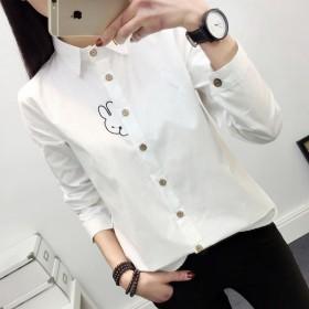 衬衫女长袖春装新款韩版学生宽松百搭打底衫