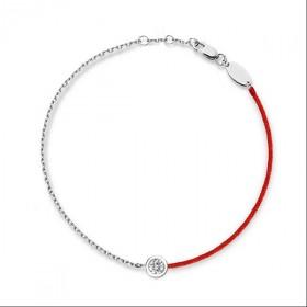 S925纯银红绳手链情侣简约男女半红绳链子