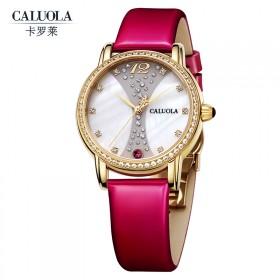 女表皮带水钻时尚潮流大表盘女士手表时装石英表