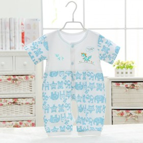 婴儿纯棉夏季连体衣