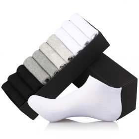 10双装男士夏季网眼全棉袜子透气船袜