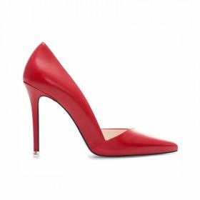 婚鞋红色尖头高跟鞋细跟黑色单鞋女裸色工作鞋