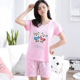 睡衣女夏纯棉短袖套装夏天韩版甜美可爱两件套夏季学生
