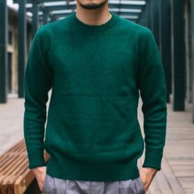 冬季日系小清新纯色毛衣男韩版学生针织衫修身毛线衫
