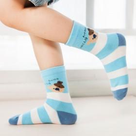 5双春夏儿童袜子纯棉中筒袜男女童宝宝袜婴儿棉袜