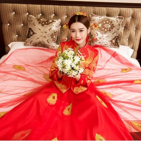 秀禾服古装新娘喜服婚纱嫁衣