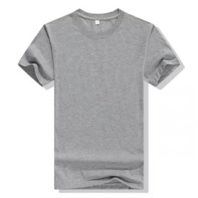 男纯色圆领T恤短袖