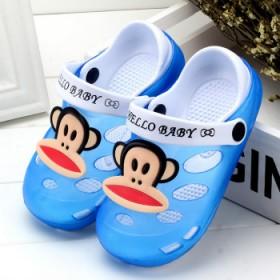 夏儿童凉拖鞋女卡通洞洞鞋沙滩鞋