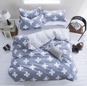 简约磨毛四件套床单被套1.5m1.8/2.0米床