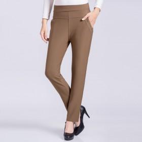 中老年女裤妈妈装大码女装高腰弹力修身小脚裤