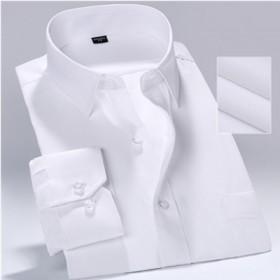 男士工装白纯色衬衫衬衣上班职业正装