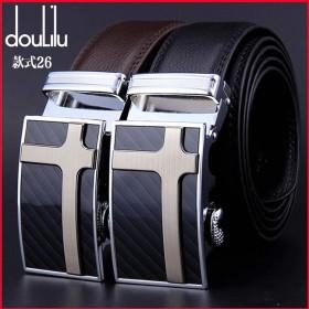 dulilu品牌男士真皮腰带自动扣皮带裤带商务青年