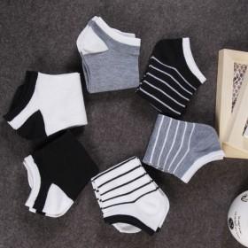 男士运动条纹短袜