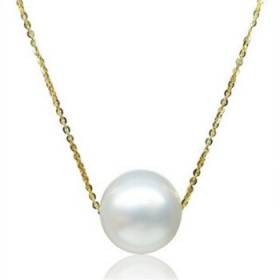 925银制品银链子银项链女性锁骨链珍珠吊坠项链